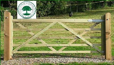 WOODEN FIELD GATE, ranch, drive GATE TIMBER.. BRACED 3ft - 12ft Planed & Treated