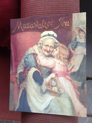 Mazawattee Tea Large Cardboard Poster/Postcard. New. Reproduction. Nice Gift!