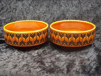 Hornsea Pottery Heirloom Brown CEREAL/SOUP bowl x 2