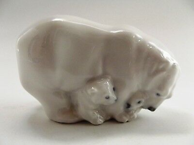 Royal Copenhagen Small Bear With Cubs No R4780 Ref 521/1