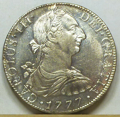 Mexico 8 Reales 1777 Mo-FM Almost Uncirculated
