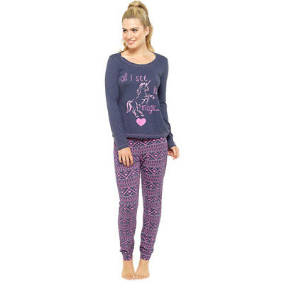 FAB LADIES GREY MY LITTLE PONY UNICORN COTTON PYJAMAS SIZES 6-20