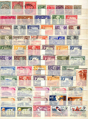 Antigua 1903 - 1976  ***** 62 Used Stamps