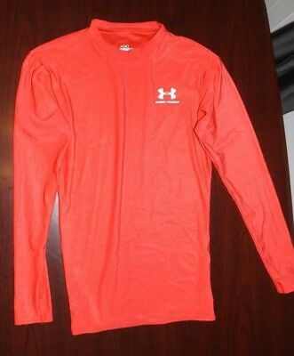 Under Armour Red Long Sleeve Fitted Base Layer Compression Shirt Women's Medium