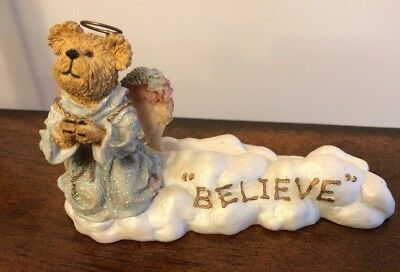 Boyd Bears The Bearstone Collection Style 27317 Faith Believe Miracles Pic Holde