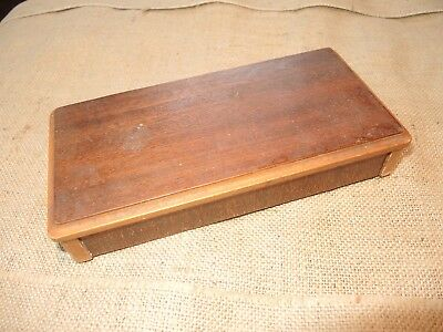 Antique Swedish vintage 1930s wooden handmade hinged box (birch)