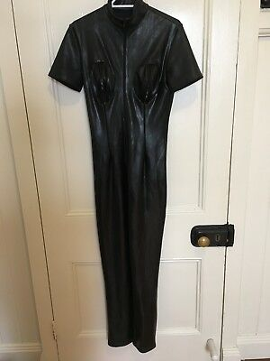 LATEX CATSUIT. Datex Brand, Lined, Breast Zippers Size 12-14