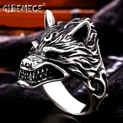 Stainless Steel ring top quality Game Of Throne House Stark of Winterfell Wolf