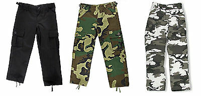 KIDS Cargo Pants BDU Style Boys Girls Military Army USMC Child Hunting Camping