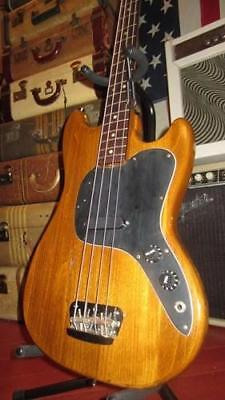 Vintage 1970's Fender Musicmaster Electric Bass Guitar Natural Great Deal