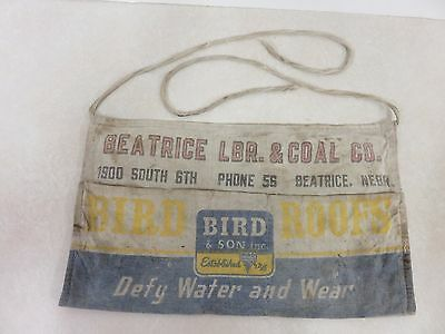 Vintage Antique Nail Apron Beatrice Nebraska Lumber And Coal Company