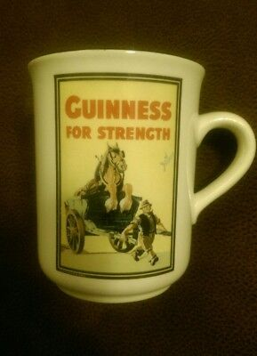 Guinness For Strength! Coffee Mug Guinness Beer Official Merchandise Ireland EUC
