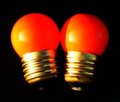 Darkroom AMBER SAFELIGHT BULBS - Set of 2! NEW! Medical or Photo Darkrooms!