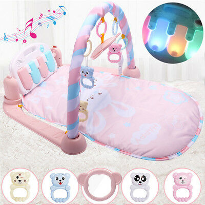 Pink 3 in 1 Baby Musical Lay & Play Mat Fitness Music And Lights Fun Piano Toys