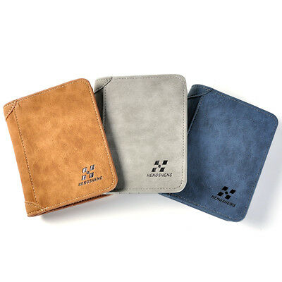 Mens LUXURY Leather Wallet RFID Safe Card Blocking ID Protection