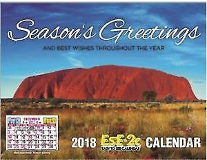 "2018 EsE-2C (Easy to See) Calendar, ""Australia's #1 Calendar"", Postage Included"