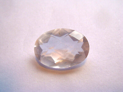 Rose Quartz Oval cut Gemstone 14 mm x 10 mm 5 carat Natural Large Gem