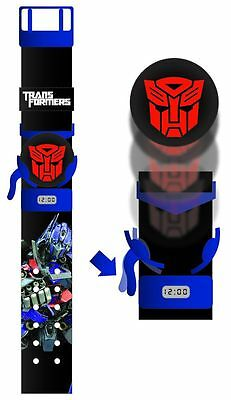 TRANSFORMERS - Optimus Prime Flying Disc LCD Watch (Wesco) #NEW
