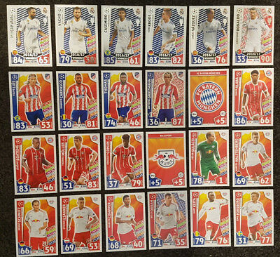 2017/18 Match Attax UEFA Champions League - all cards 50c!