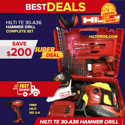 Hilti Te 30-A36 Atc - Avr Cordless Combihammer, Preowned, Fre Sid 2-A, Fast Ship