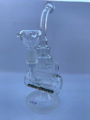 Hookah Water Pipe Bong Glass 8.5 inch clear American glass handmade designer