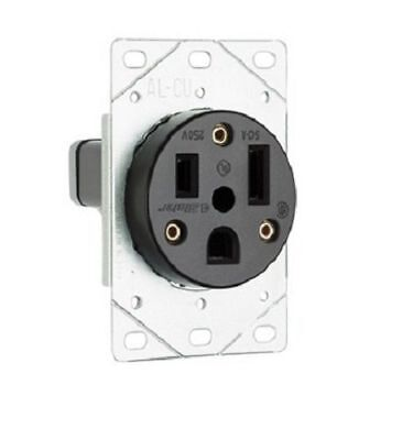 P & S 3804 Straight Blade Receptacle, Flush, 2P 3-Wire 50A 250V, 6-50R