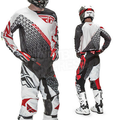 Fly Kinetic Jersey And Pants Set Blk/wht/red Sale Great Gift Idea Cheap