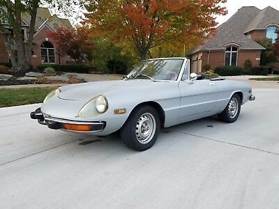 1974 Alfa Romeo Spider Convertible 1974 ALFA ROMEO SPIDER VELOCE ORIGINAL CALIFORNIA CAR **LOW RESERVE** LOW MILES