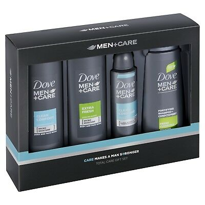 Travel Dove Fortifying 2-1 shampoo Plus Total Care Gift Set Developed men's skin