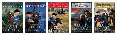 NEW Rush Revere Set of 5 Hardcover Book Limbaugh Kid History Presidency Pilgrims