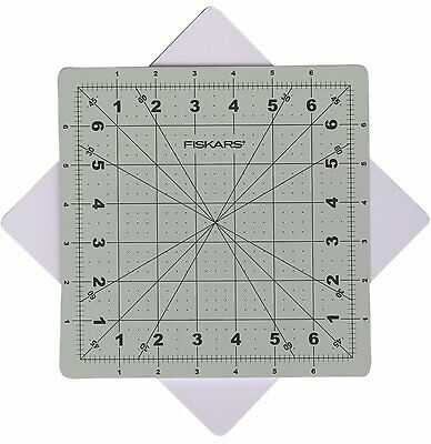 FISKARS Self Healing ROTATING Cutting Mat - 8 inch / 20cm square / Quilting /DIY