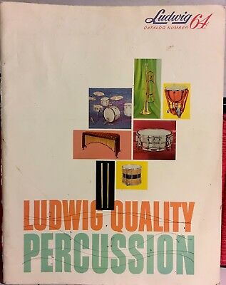 Vintage 1964 Ludwig Drum Catalog Total Percussion