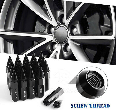 20 PC Black Extended Spiked Lug Nuts 12x1.5 fits Chevrolet Corvette Cruze Malibu