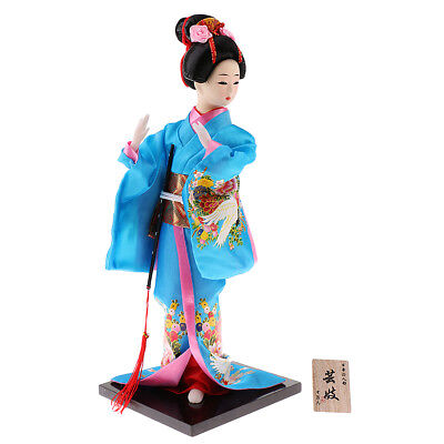 12inch Japanese Kabuki Geisha Doll Art Gift Collectables for Friends Family
