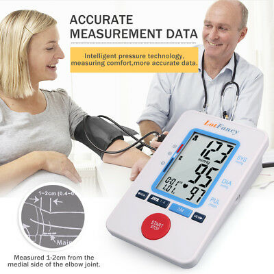 Automatic Digital Arm Blood Pressure Cuff BP Monitor Machine Test Power Adapter