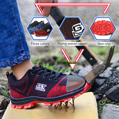 2018 GT Mens Work Steel Toe Safety Athletic Sneakers Climb Hike Shoes Size 5-10