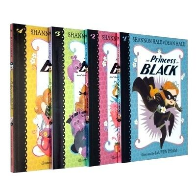 The Princess in Black Collection 4 Books Set Children Gift Pack by Shannon Hale