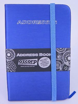 ROYAL BLUE Mini Address Book 125 x 85mm Indexed Ozcorp 02956*