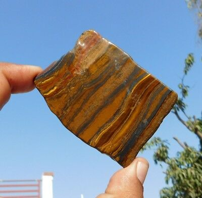 339 Cts A++ Attractive Iron Tiger Eye 67X53 100% Natural Cabochon Slab Gemstone