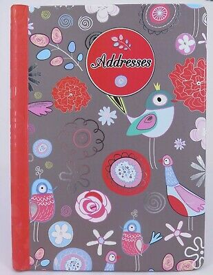 GREY BIRDS A5 Address Book 200 x 165mm 124P Flip Lock AB39* ^