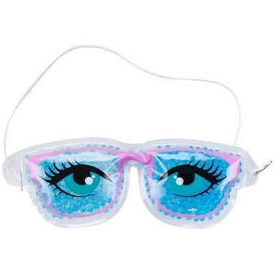 Promobo - Pochette Masque Relaxant Forme Lunette Avec Microbille Chaud Froid Ble