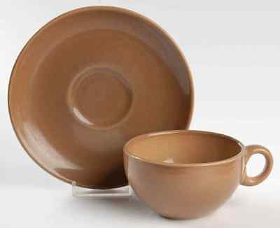 Iroquois Russel Wright CASUAL BROWN Cup & Saucer 6301956
