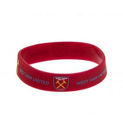 West Ham United Silicone Wristband Gift New Official Licensed Football Product