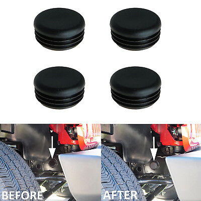 4Pcs Black Frame Hole Cover Plugs Keep Out Mud for Jeep Wrangler JK 2/4Dr 07-17