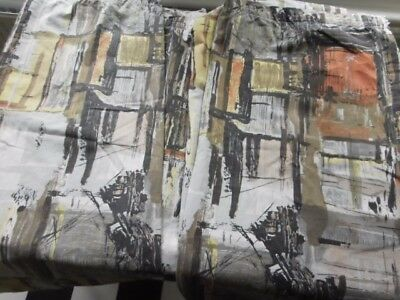 1950s backcloth fabric/ curtains/