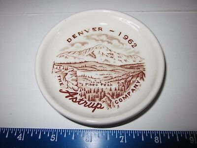 Vtg Walker China Butter Pat 1962 Restaurant Ware Denver, Co Pikes Peak Advert