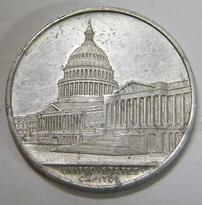 United States Capitol / Social Security - Lucky Coin Token - Aluminum, 29mm