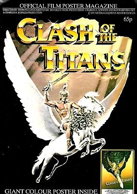 Clash Of The Titans Poster Magazine Vfn Nice Clean Condition