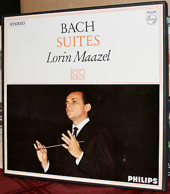 PHILIPS 2-LPs 835 349/50-AY: J.S. BACH - Orchestral Suites, MAAZEL, 1966 HOLLAND