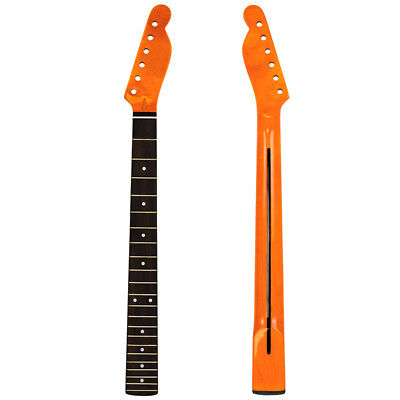 22 Frets Gloss Electric Guitar Neck for Guitar ST Parts Replacement Maple Black